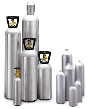 Specialty/Industrial Gas | High Pressure Aluminum Gas Cylinders